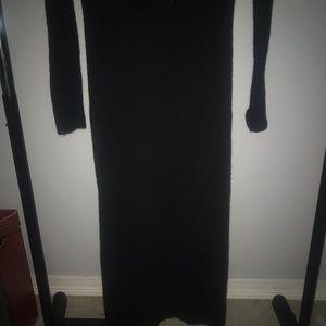 Aritzia turtle neck floor length dress
